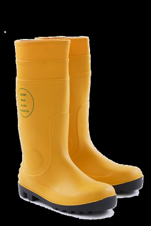 SERMI 904A 黃色安全水鞋 Safety Rain Boots