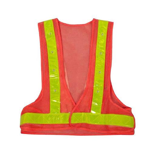 LED V型 橙色閃燈反光衣