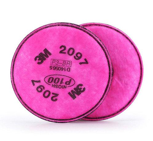 3M™ 2097 P100 高效能濾棉 (pack)