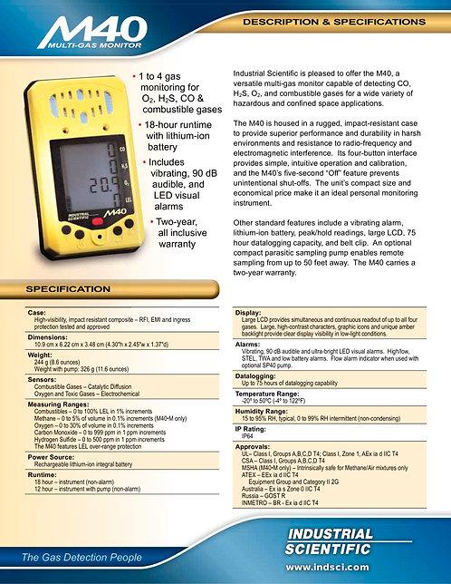 ISC M40 四合一氣體測試機(O2/LEL/H2S/CO)
