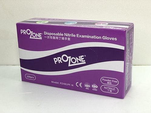 PROZONE PZ481PF 一次性醫學丁晴手套