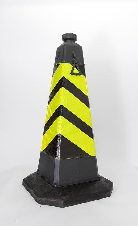750mm 黃黑反光四方錐筒
