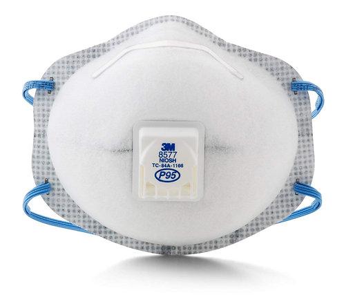 3M™ 8577 P95 有氣閥有機氣體保健口罩(過濾固體和油性懸浮微粒) (pc)