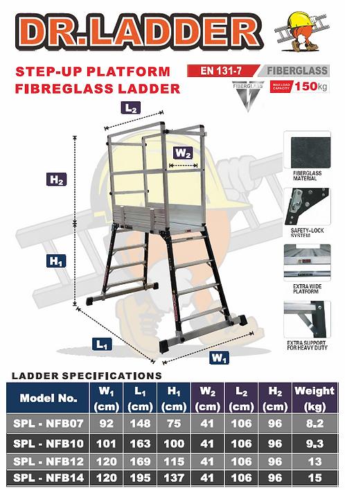 DR LADDER SPL-NFB Fiberglass Hop-up Platform 纖維功夫櫈連圍欄