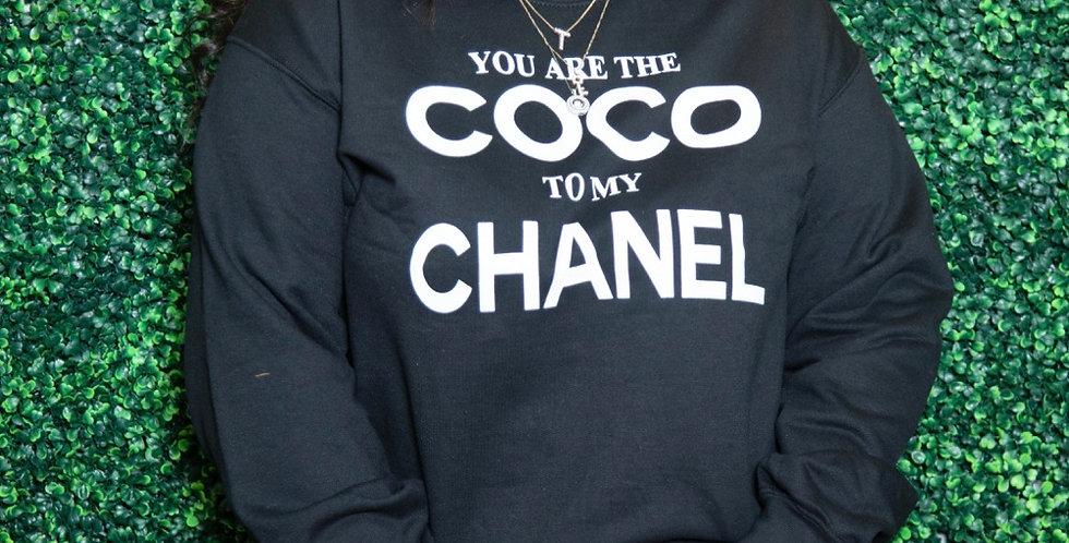 Coco to my Chanel sweatshirt