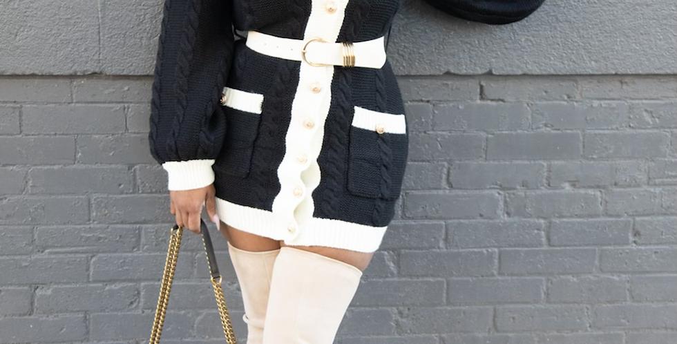 Material Girl sweater dress