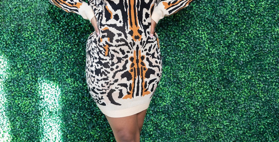 Eye Of The Tiger sweater dress