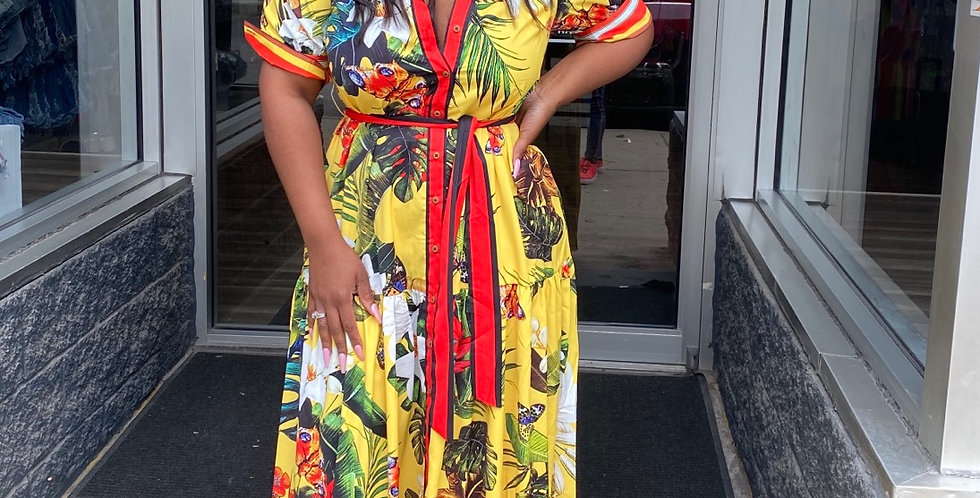 Exotic Butterfly Print Maxi