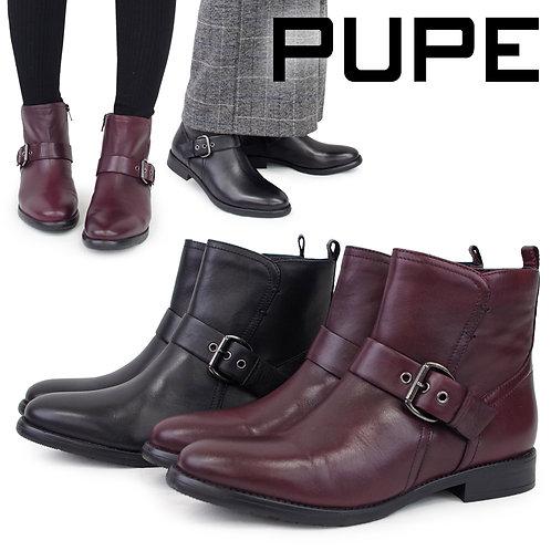【PUPE プーペ】ベルトデザイン ショートブーツ【42153】