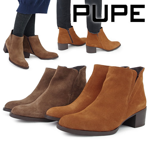 【PUPE プーペ】サイドゴア ショートブーツ【1130】
