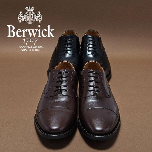 【BERWICK バーウィック】 ストレートチップ ビジネスシューズ (1251)ダークブラウン
