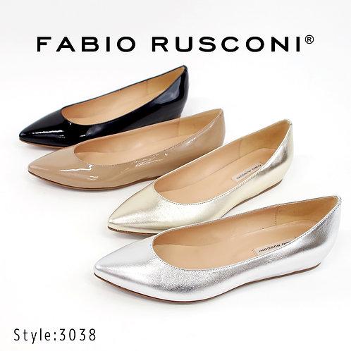 【FABIO RUSCONI ファビオ ルスコーニ】イタリア製 ポインテッドトゥ パンプス【3038】