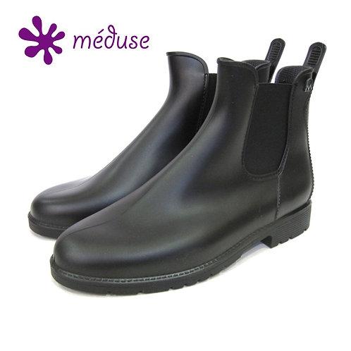 【MEDUSEメデュウス】メンズサイドゴアショートレインブーツ(JOM)ブラック