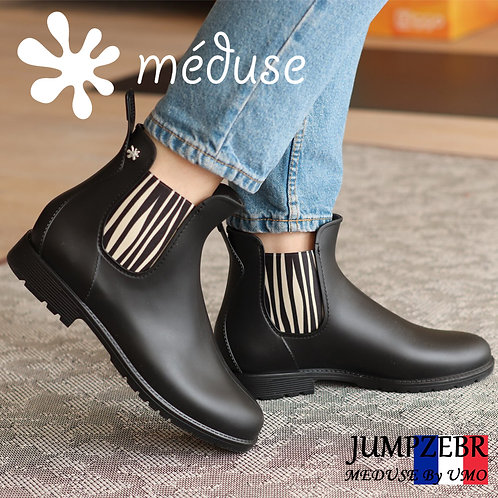 【MEDUSE メデュース】【JUMPZEBR】ジャンプゼブラ メディウス サイドゴア ゼブラ ショートレインブーツ 完全防水  長靴 雨 レインシューズ