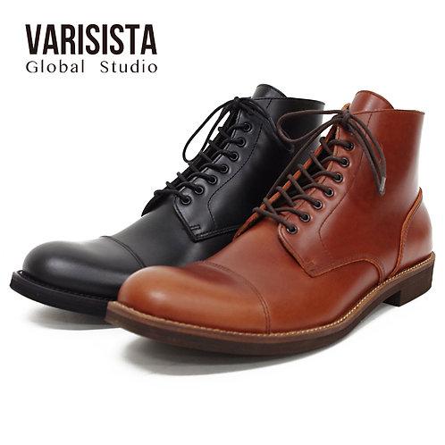 【VARISISTA Global Studi oヴァリジスタ グローバルスタジオ】レザーサイドジップワークブーツ (ZC10804)