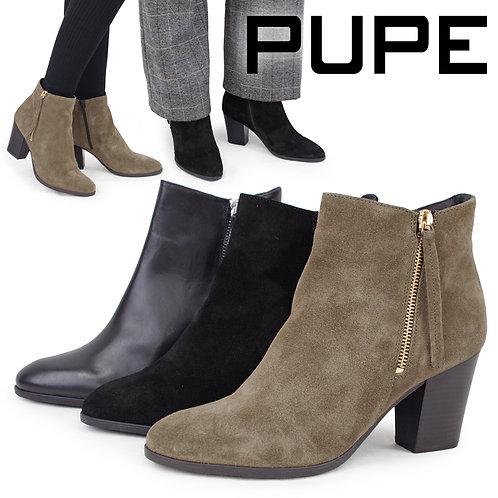 【PUPE プーペ】ジップデザイン ショートブーツ【42410】