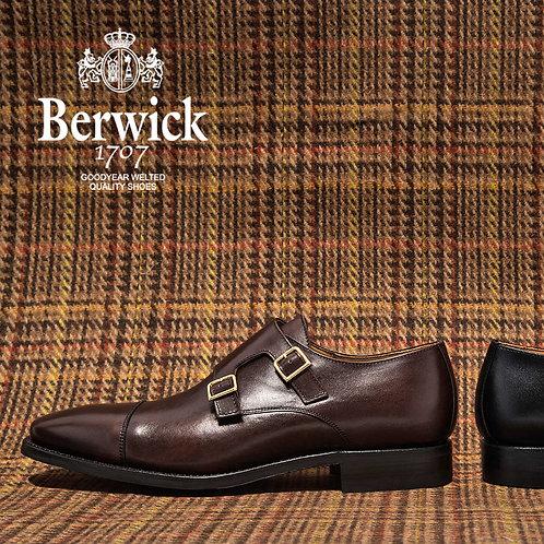 【BERWICK バーウィック】 ダブルモンクストラップ シューズ ダイナイトソール (1168) ダークブラウン