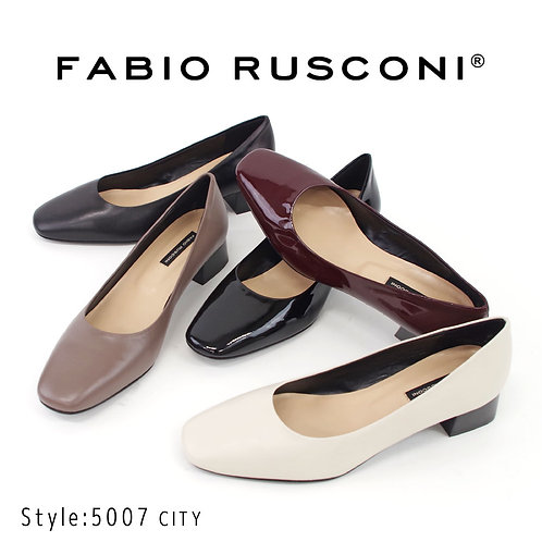 【FABIO RUSCONI ファビオ ルスコーニ】イタリア製 スクエアトゥパンプス【5007 CITY】