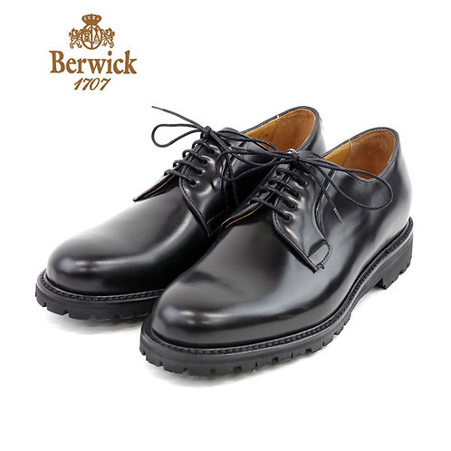 【BERWICK バーウィック】 プレーントゥシューズ ビブラムソール (3680) ブラック