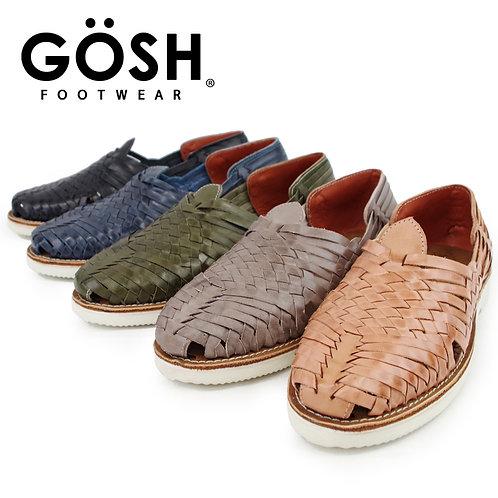 【GOSH ゴッシュ】メンズ レザーメッシュ ウーヴン スリッポンサンダル(MOGU) メキシコ製