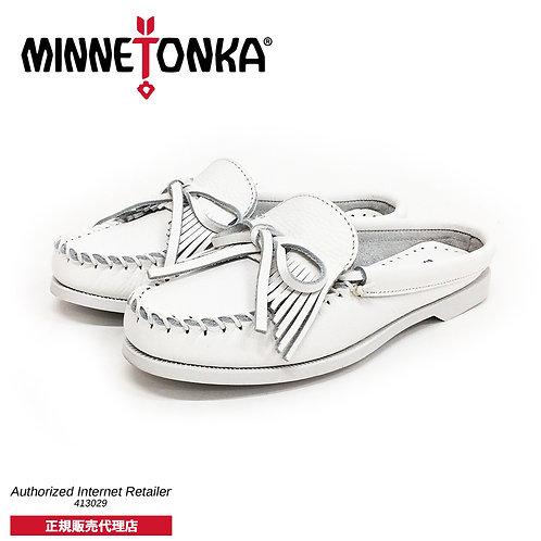 【MINNETONKA ミネトンカ】正規販売代理店 正規品KILTY BOAT MULE キルティボートミュール【174L】White ホワイト
