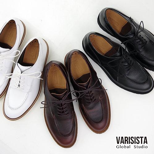 【VARISISTA Global Studi oヴァリジスタ グローバルスタジオ】型押しレザー Uチップシューズ (ZC10700)