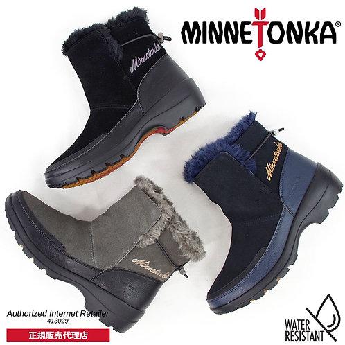 【MINNETONKA ミネトンカ】防水スノーブーツ【9900】ウォータープルーフ ショートブーツ ミネトンカブーツ レザーブーツ