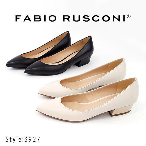 【FABIO RUSCONI ファビオ ルスコーニ】イタリア製 ポインテッドトゥローヒールパンプス【3927】