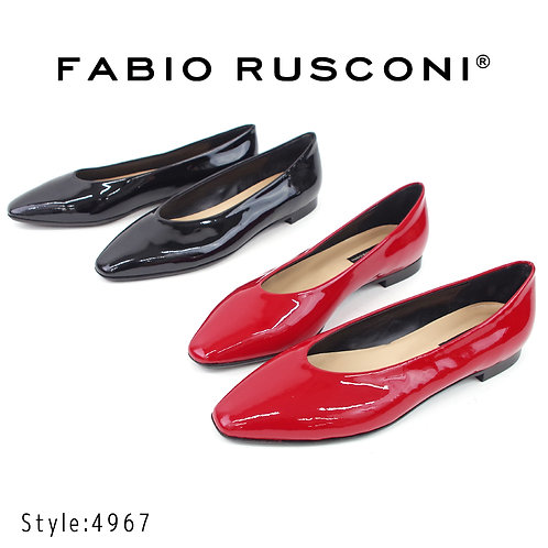 【FABIO RUSCONI ファビオ ルスコーニ】イタリア製 エナメルレザーパンプス【4967】