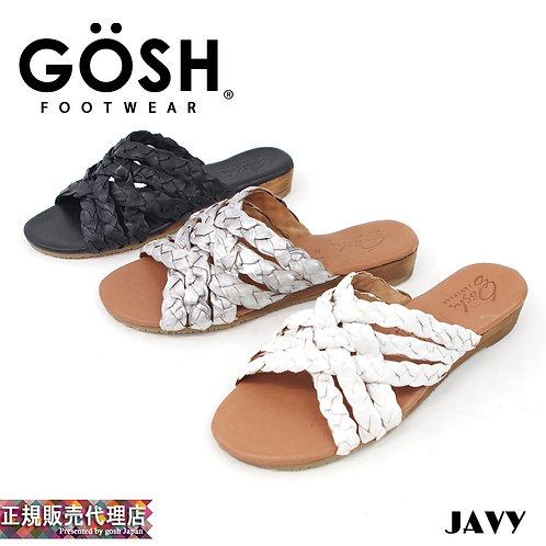 【GOSH/ゴッシュ】メキシコ製 カラークロスレザー サンダル【JAVY】
