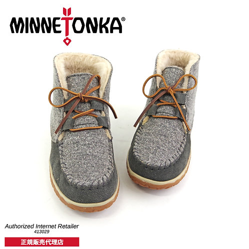【MINNETONKA ミネトンカ】 TORREY LACEUP BOOTIE トリーレースアップブーティー【40145】GREY