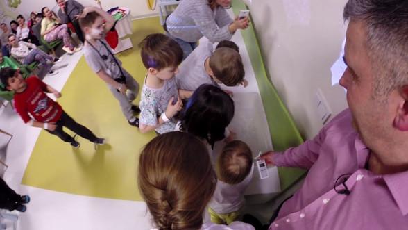 Spotkanie z dzieciakami w Szpitalu Pediatrycznym WUM