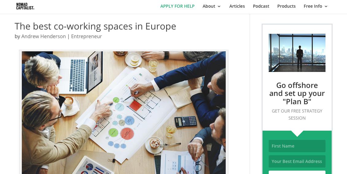 Najlepszy coworking w Europie