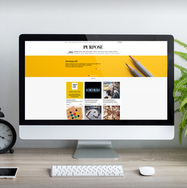 Strona internetowa dla magazynu PURPOSE