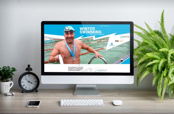 Strona internetowa, logo, content dla Piotr Biankowski Winter Swimmer