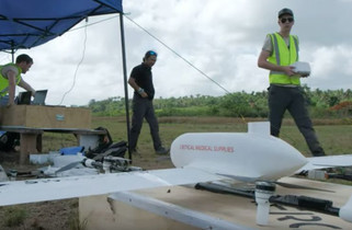 Drones deliver vaccines to one-month old baby in remote island of Vanuatu