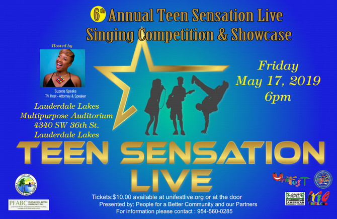 The 6th Annual Teen Sensation Live Singing Competition and Showcase