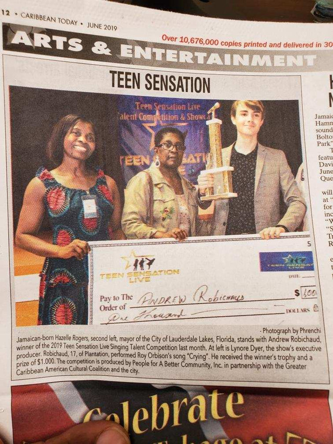 Hot Off The Press #2 - 2019 Teen Sensation Live Winner on Arts & Entertainment News