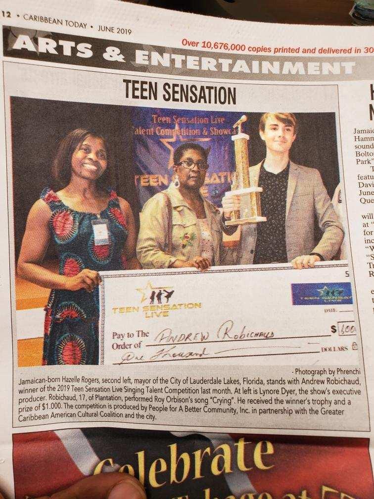 Teen Sensation Live on Arts & Entertainment News