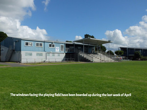 Kerikeri Domain: The restoration of the fire damaged grandstand building