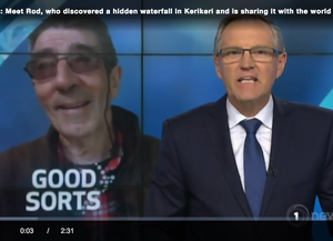 Rod Brown & the Wairoa Stream Projects get airtime on TVNZ Good Sorts