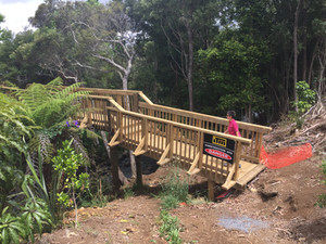Bridge extends the Wairoa Stream walkway