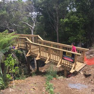Bridge extends the Wairoa Stream walkway