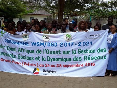 Les organisations partenaires de WSM en Afrique de l'Ouest formées sur la gestion des mouvements soc