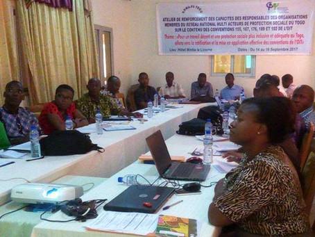 Les responsables des organisations membres du RNMAPS-Togo s'imprègnent des conventions 155,167,176,