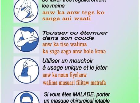 Mali, l'UTM informe et sensibilise contre le  COVID-19