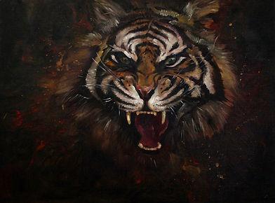 Ксения Шилова Тигр  Холст, масло, 60х80.
