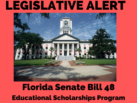 ACTION ALERT: SB 48 Educational Scholarships Program