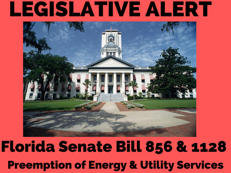 ACTION ALERT: OPPOSE SB 856 & SB 1128 Preemption on Energy Infrastructure & Utility Services