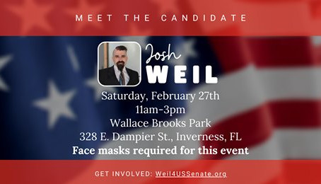 Citrus County Meet & Greet w/ US Senate candidate Josh Weil